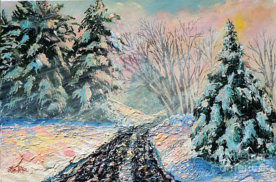 Painting - Nixon's A Colorful Winter Day by Lee Nixon
