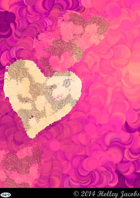 Digital Art - No Love Pink by Holley Jacobs