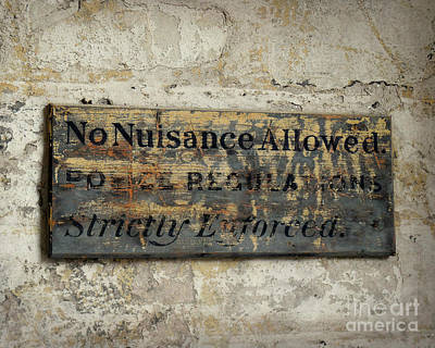 Photograph - No Nuisance Allowed by Valerie Reeves