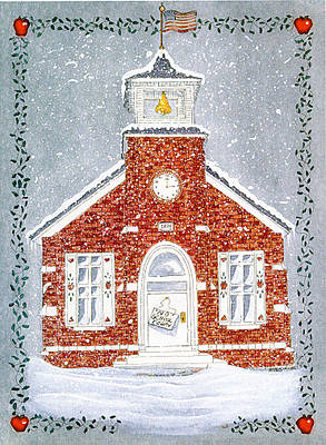 Snowy Day Mixed Media - No School Today by Sally  Evans