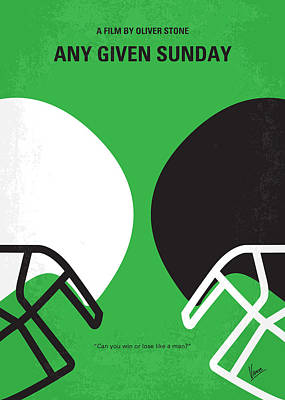 Athletic Digital Art - No420 My Any Given Sunday Minimal Movie Poster by Chungkong Art