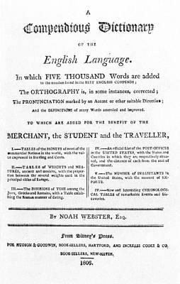 Noah Webster Title-page Art Print