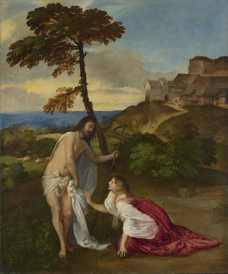 Noli Titian Painting - Noli Me Tangere by Titian
