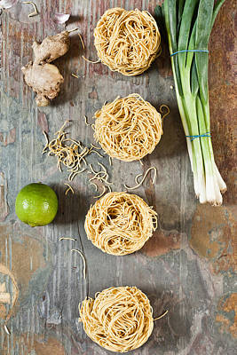 Italian Kitchen Photograph - Noodles by Tom Gowanlock