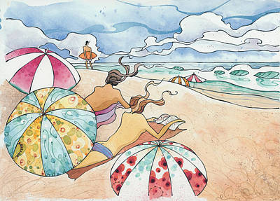 Painting - Noosa Ninnies by Harry Holiday