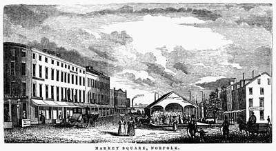 Streetscenes Painting - Norfolk, Virginia, 1856 by Granger