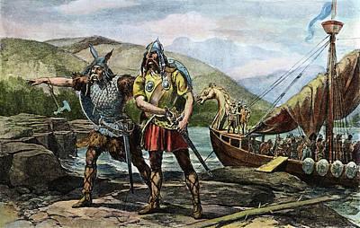 Norsemen Landing, C1000 Art Print by Granger