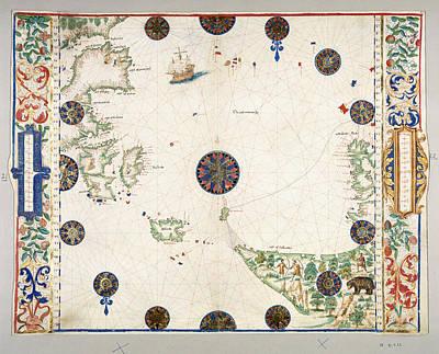 Cartography Photograph - North Atlantic Ocean by British Library
