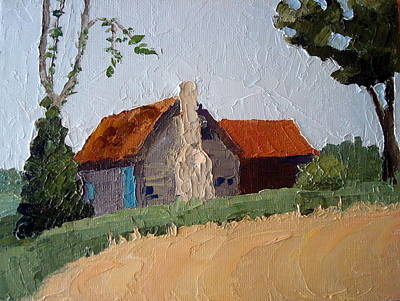 Vernacular Architecture Painting - North Carolina Vernacular by Susan Woodward