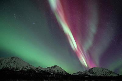 Photograph - Northern Lights, Annie Lake, Yukon by Jonathan Tucker