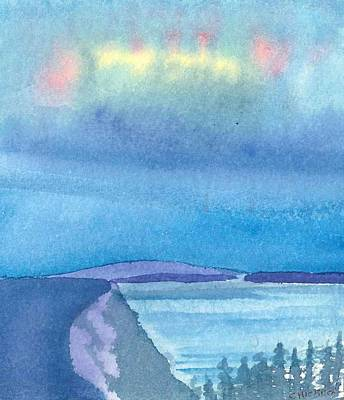 Northern Lights Art Print by Charlotte Hickcox