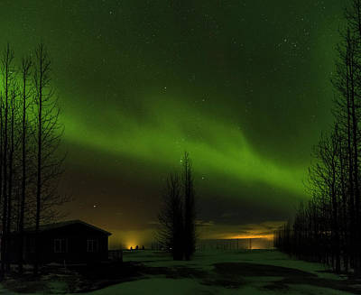 Golden Circle Photograph - Northern Lights Or Aurora Borealis by Martin Zwick