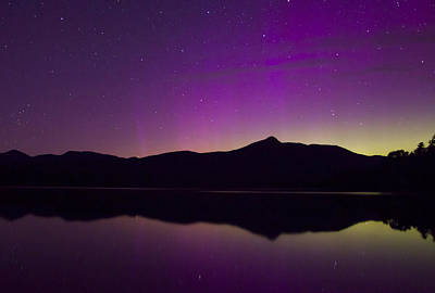 Photograph - Northern Lights Over Mount Chocorua by John Burk
