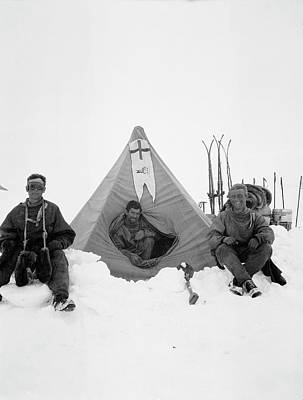 Abbott Photograph - Northern Party Antarctic Explorers by Scott Polar Research Institute