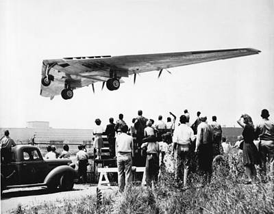 Us Open Photograph - Northrop's Flying Wing Bomber by Underwood Archives