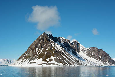 Craggy Photograph - Norway Svalbard Hornsund Heavily Eroded by Inger Hogstrom
