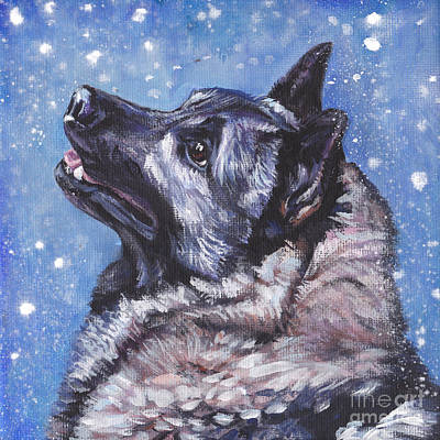 Painting - Norwegian Elkhound by Lee Ann Shepard