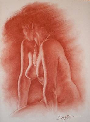 Sepia Chalk Mixed Media - Nostalgie by Guillaume Bruno