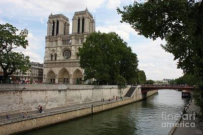 Abstract Male Faces - Notre Dame along the Seine by Carol Groenen