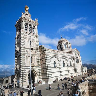 Photograph - Notre Dame De La Garde Marseille France by Michal Bednarek