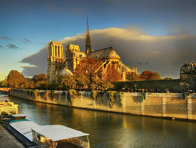 Photograph - Notre Dame by Mick Burkey