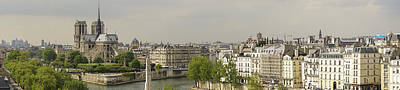 Photograph - Notre Dame Paris Panorama by For Ninety One Days