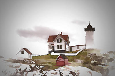 Cape Neddick Lighthouse Digital Art - Nubble Light by Ray Summers Photography