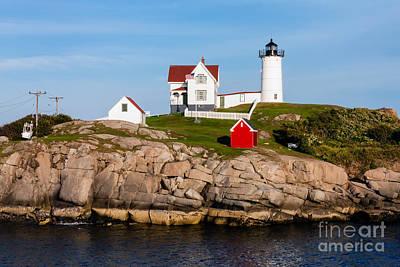 Cape Neddick Light Station Photograph - Nubble Light York Maine by Dawna  Moore Photography