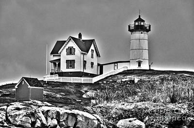 Photograph - Nubble Lighthouse Cape Neddick Maine by Glenn Gordon