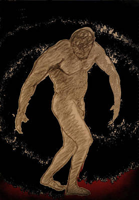Male Nude Drawing Mixed Media - Nude Act by Genio GgXpress
