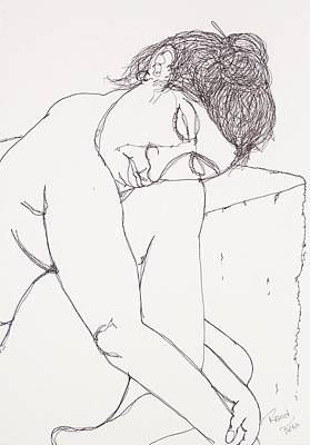Nude At Rest Art Print