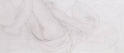 Feminine Drawing - Nude by Auguste Rodin