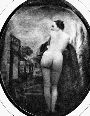 Photograph - Nude Posing: Rear View by Granger