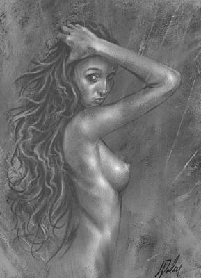 Nude Study Art Print by Leanne Dolan