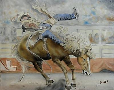 Bronc Painting - Number Eight Up by Stefon Marc Brown