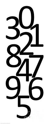 Digital Art - Numbers In Black And White by Jackie Farnsworth