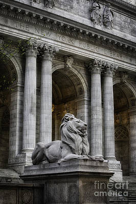 Ny Library Lion Art Print by Jerry Fornarotto