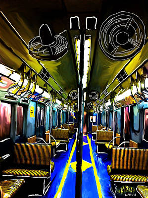 #1 Nyc 1930 New York Subway Train Original by Gylliayn Art