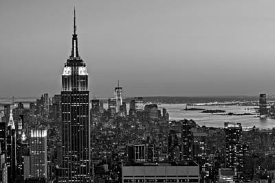 Skylines Royalty-Free and Rights-Managed Images - NYC Top Of The Rock by Susan Candelario
