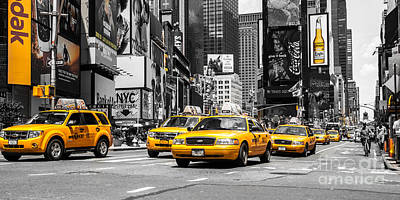 Nyc Yellow Cabs - Ck Art Print