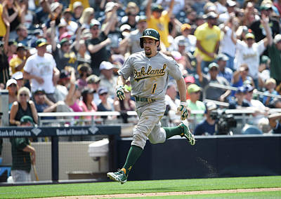 Photograph - Oakland Athletics V San Diego Padres by Denis Poroy
