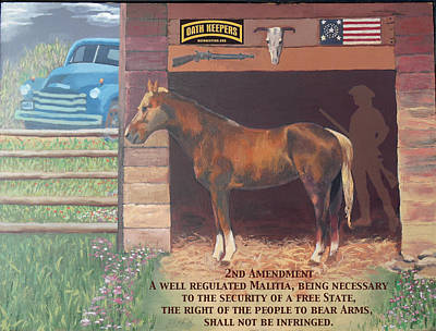 Minuteman Painting - Oath Keepers by Rick Koestler