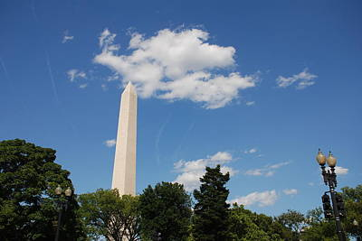 Photograph - Obelisk Rises Into The Clouds by Kenny Glover