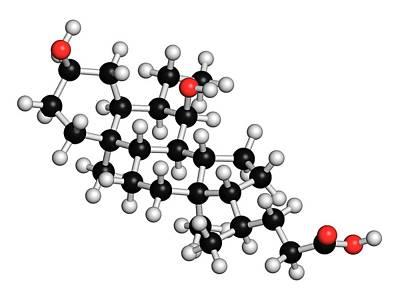 Obeticholic Acid Liver Disease Drug Art Print by Molekuul