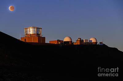 Photograph - Observatory On Top Of Haleakela Volcano Maui Hawaii Usa by Don Landwehrle