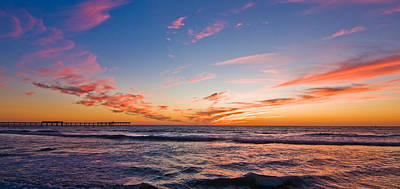 Photograph - Ocean Beach Sunset by Mickey Clausen