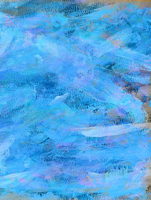 Impact Painting - Ocean Blue Abstract by Frank Tschakert