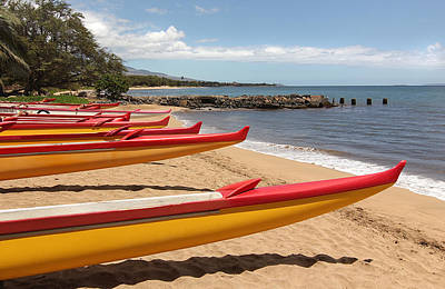 Photograph - Ocean Canoes by John Orsbun
