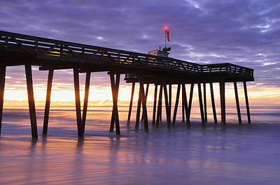 Ocean City Sunrise Art Print by Dan Myers
