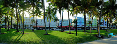 Photograph - Ocean Drive, Miami, Florida by Travelpix Ltd